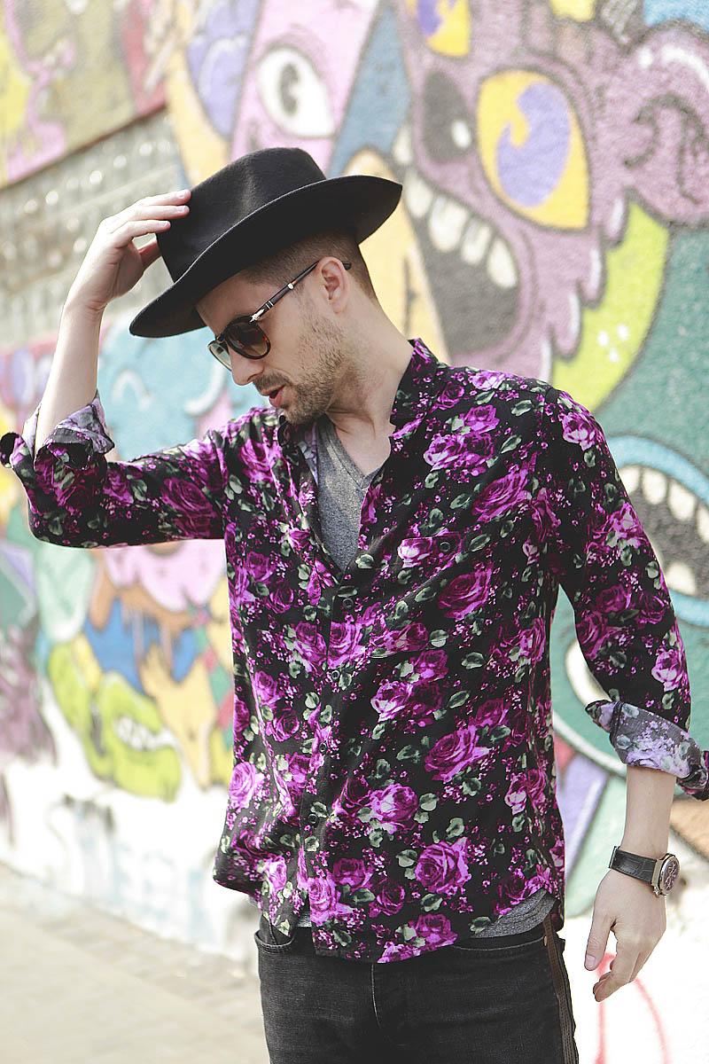 Adrian Sina - floral shirt - 4