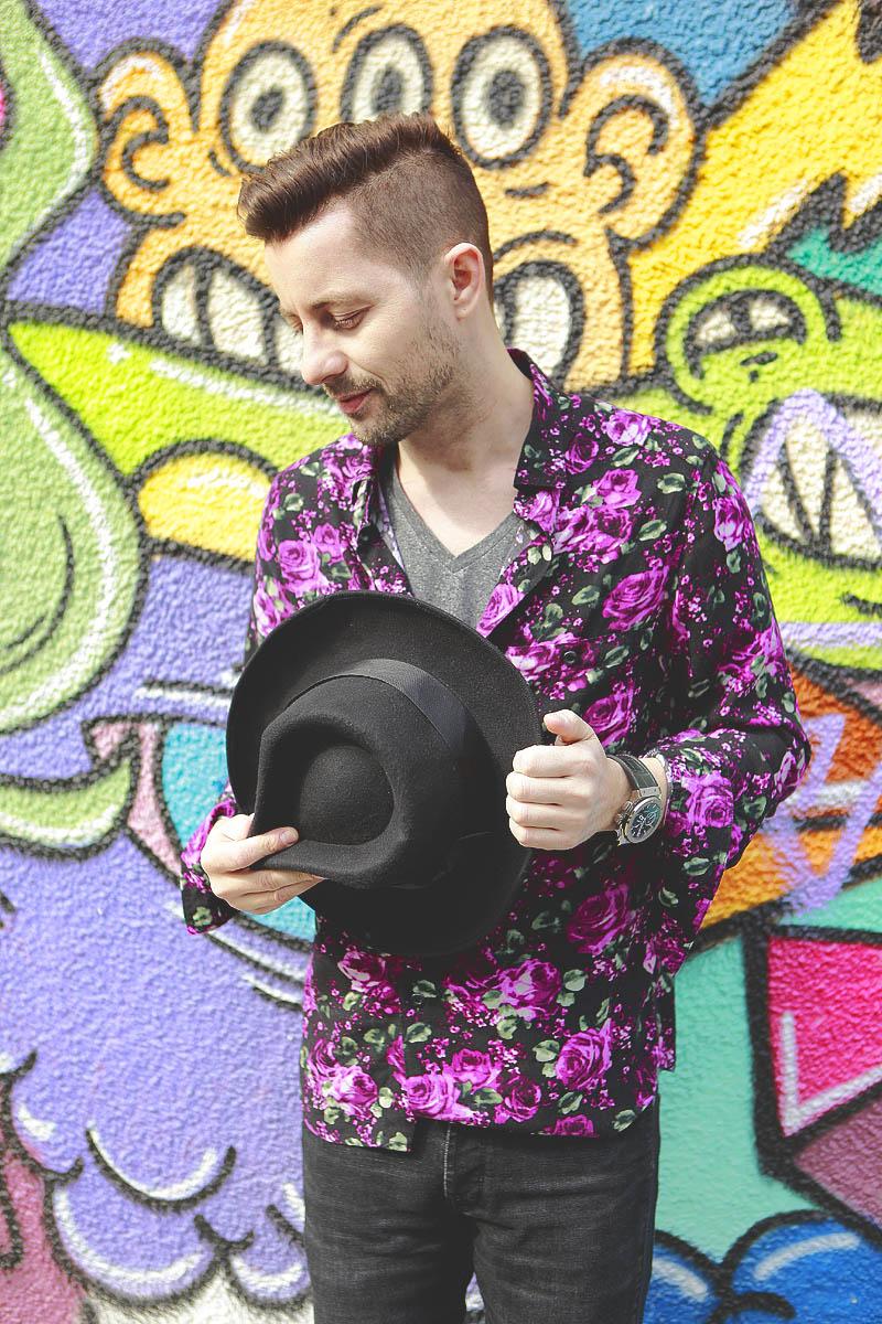 Adrian Sina - floral shirt - 7